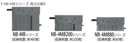 NB-MBシリーズ 高さ比較
